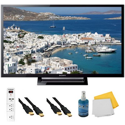 32-Inch 720p LED HDTV Motionflow XR 120 Plus Hook-Up Bundle - KDL32R420B