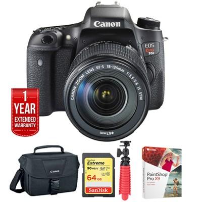 EOS Rebel T6s DSLR Camera Body + EF-S 18-135mm IS STM Lens Kit + 64GB Bundle