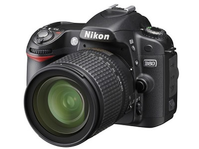 D80 Digital SLR Camera Body with Nikon 18-70mm Lens