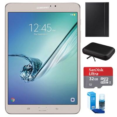 Galaxy Tab S2 8.0-inch Wi-Fi Tablet (Gold/32GB) 32GB MicroSDHC Card Bundle