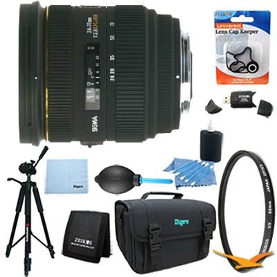 24-70mm F2.8 IF EX DG HSM Lens for Nikon AF Lens Kit Bundle