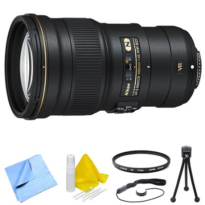 AF-S NIKKOR 300mm f/4E PF ED VR Lens and Filter Bundle