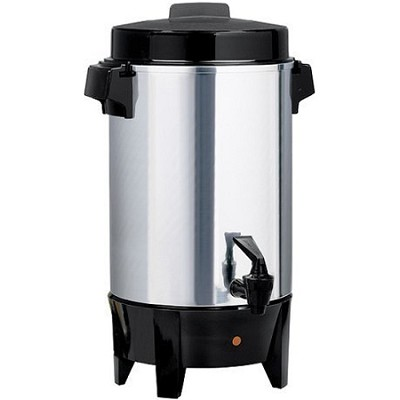 58036 - 36-Cup Coffee Urn, Polished Aluminum