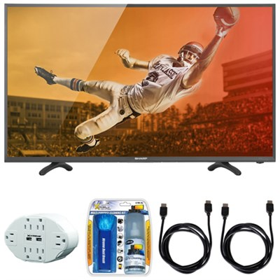 Aquos N3000 Full HD 40` Class 1080p 60Hz LED TV 40N3000U w/ Hook up Bundle