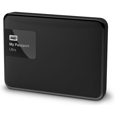 My Passport Ultra 500 GB Portable External Hard Drive, Black