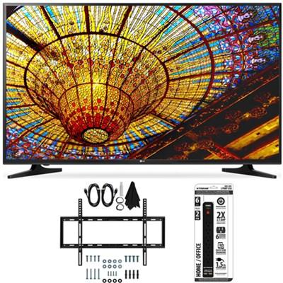 50UH5500 - 50-Inch 4K Ultra HD Smart LED TV w/ webOS 3.0 Flat Wall Mount Bundle