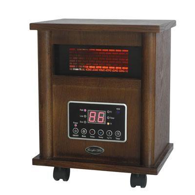 Comfort Glow Deluxe Wood Cabinet Infrared Quartz Comfort System - QEH1400