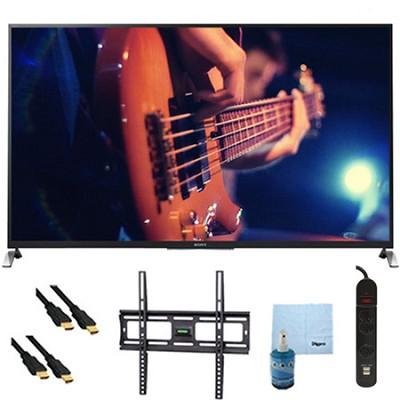 65` Smart 3D LED HDTV Motionflow XR 480 Plus Mount & Hook-Up Bundle - KDL65W950B