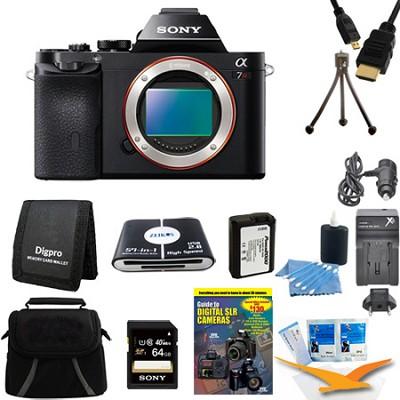 Alpha 7R a7R Digital Camera 64 GB SDXC Card and Battery Bundle
