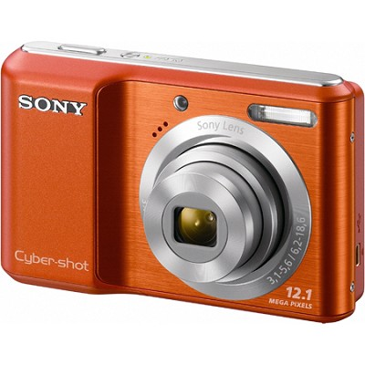 Cyber-shot DSC-S2100 12MP Orange Digital Camera