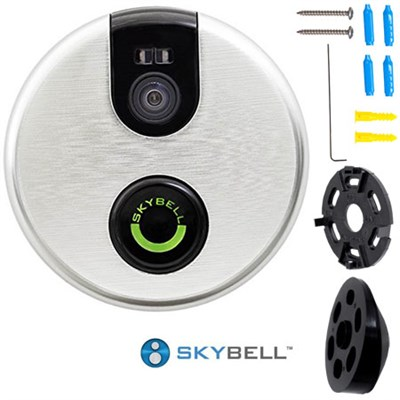 2.0 Smart Wi-Fi Video Doorbell (Silver) Plus Bonus Complete Hook-Up Bundle