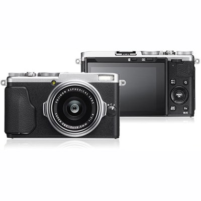 X-70 16.3MP X Series Compact Digital Camera w/ FUJINON 18.5mm F2.8 Lens (Silver)