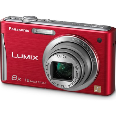 Lumix DMC-FH27 16MP 8x Zoom Red Compact Digital Camera w/ 3.0` Touchscreen