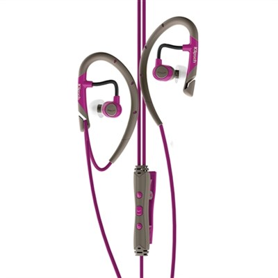 IMAGE A5i Sport In-Ear Headphones with 3-Button Mic/Remote Magenta - OPEN BOX