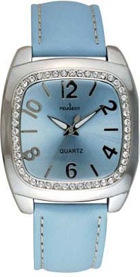 310BL Ladies Crystal Leather Watch