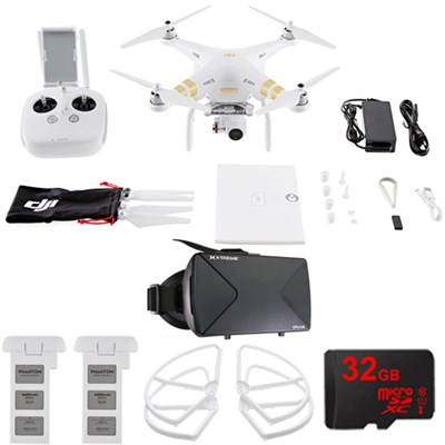 Phantom 3 4K Quadcopter Drone w/ 4K Camera FPV Virtual Reality Experience