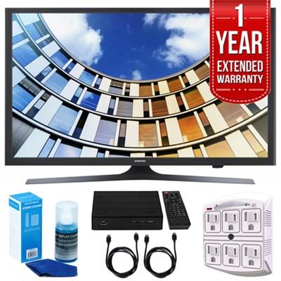 UN49M5300- 49-Inch Full HD Smart LED TV w/ Extended Warranty Bundle