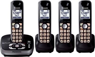 KX-TG4034B DECT 6.0 Plus Expandable Digital Cordless Answering System