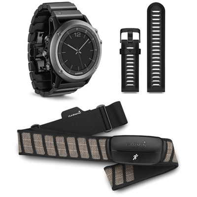 fenix 3 Multisport Training GPS Watch - Sapphire Performance Bundle