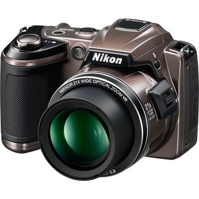 COOLPIX L120 14MP Bronze Digital Camera w/ 21x Optical Zoom