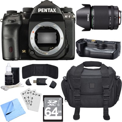 K-1 36.4MP CMOS Full Frame Digital SLR Camera Body w/ 28-105mm Lens Bundle