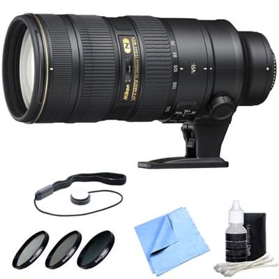 AF-S NIKKOR 70-200mm f/2.8G ED VR II Lens with Deluxe Filter Kit Bundle