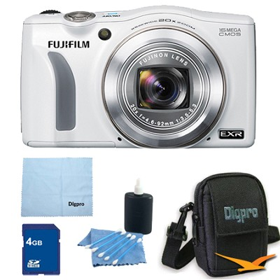 FinePix F750EXR 16MP EXR CMOS Digital Camera 4 GB Bundle (White)