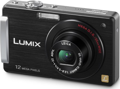 DMC-FX580K LUMIX 12.1 MP Compact Digital Camera with 3.0` Touch LCD (Black)