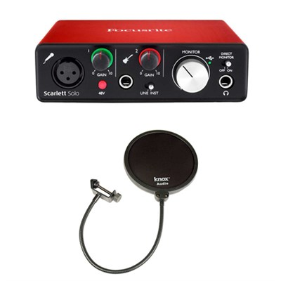 Scarlett Solo USB Audio Interface (2nd Generation) With Pro Tools & Pop Filter