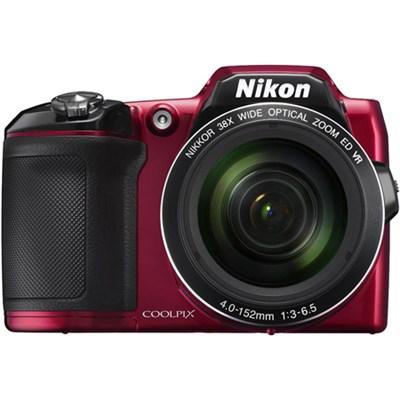 COOLPIX L840 16MP 38x Opt Zoom Digital Camera, Red (Certified Refurbished)