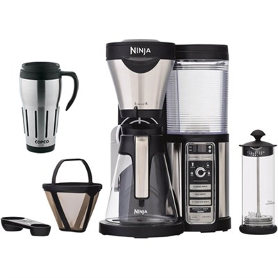 CF081 Coffee Bar Brewer w/Glass Carafe & Reusable Filter w Copco 24oz Mug Bundle