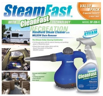 Steam Cleaner & CleanFast Mildew Stain Cleaner `Value Pack`