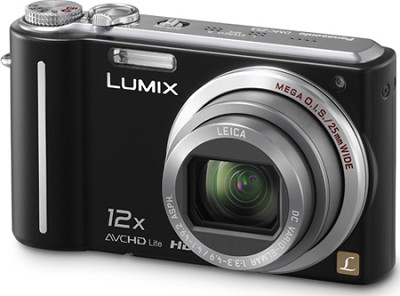 DMC-ZS3K LUMIX 10.1 MP Digital Camera with 12x Super Zoom (Black)  Refurbished
