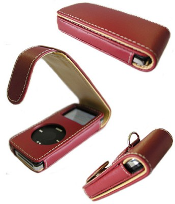 Slim Leather Case for iPod Nano (Red)
