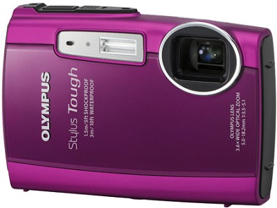 Stylus Tough 3000 Waterproof Shockproof Freezeproof Digital Camera (Pink)