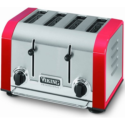 Professional 4 Slot Toaster - Red