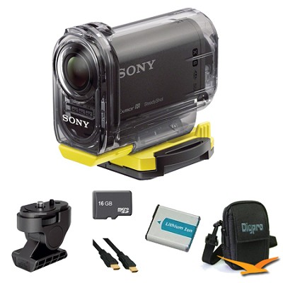 HDR-AS15/B Compact POV Wi-Fi Enabled Action Camera Angle Mount Bundle