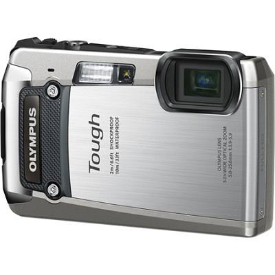 Tough TG-820 iHS 12MP Waterproof Shockproof Freezeproof Digital Camera - Silver