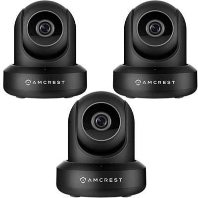 3-Pack ProHD 1080P 1920TVL 30FPS Wireless WiFi IP Camera (Black)IP2M841