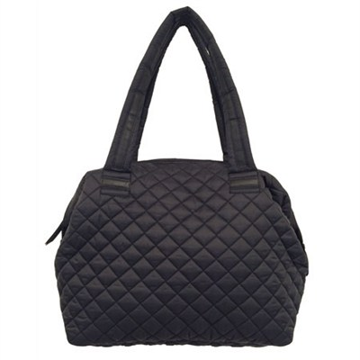 BVOYAGEE Dome Weekender Quilted Tote Bag - Black