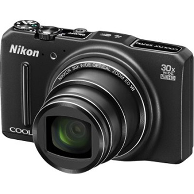 COOLPIX S9700 16MP Digital Camera w/ 30x Zoom + Wi-Fi + GPS (Black) Refurbished