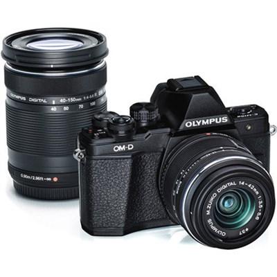 OM-D E-M10 Mark II Mirrorless Digital Camera Two Lens Kit (Black)