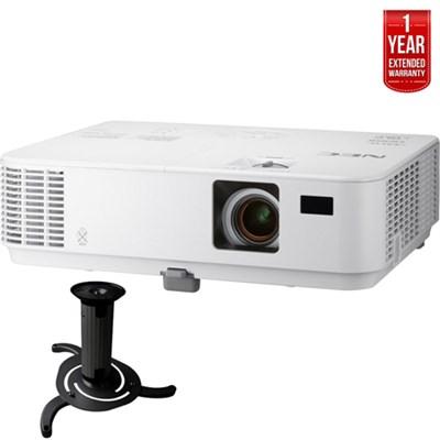3300-Lumen XGA Projector, Dual HDMI + Ceiling Bracket + Extended Warranty