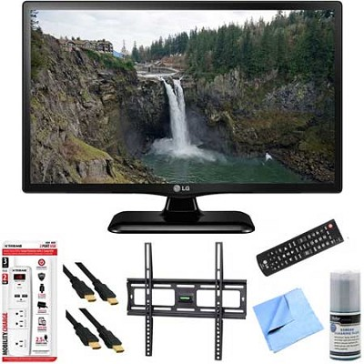 24LF4520 - 24-Inch HD 720p 60Hz LED TV Plus Mount & Hook-Up Bundle