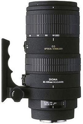Telephoto Zoom 80-400mm f/4.5-5.6 EX DG APO OS AF Lens for Canon EOS