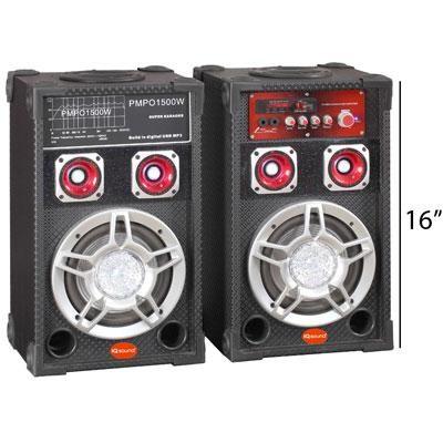 6` Professional Bluetooth Speaker Pair - IQ-3006DJ