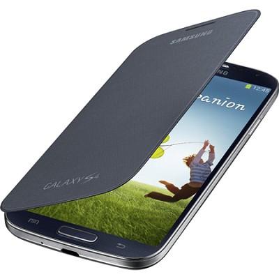 Galaxy S IV Flip Cover Folio Cell Phone Case - Black