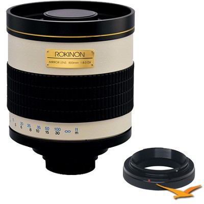 800mm F8.0 Mirror Lens for Samsung NX (White Body) - 800M