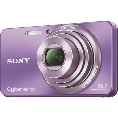 Cyber-shot DSC-W570 16MP Purple Digital Camera - OPEN BOX