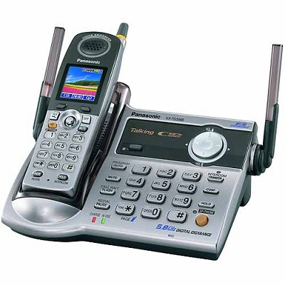 KX-TG5566M 5.8 GHz FHSS Expandable Digital Cordless Phone with a 1.6` Full-Color